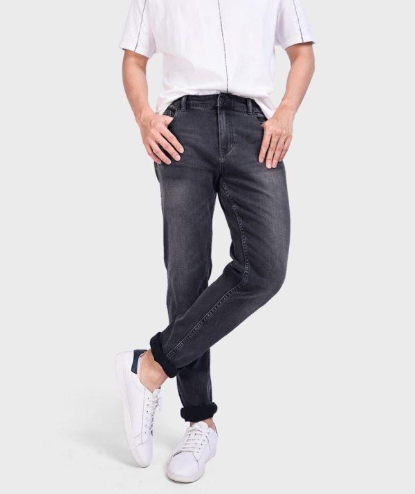 Quần Jean Nam Đen Form Slim Fit - QJ112050 1