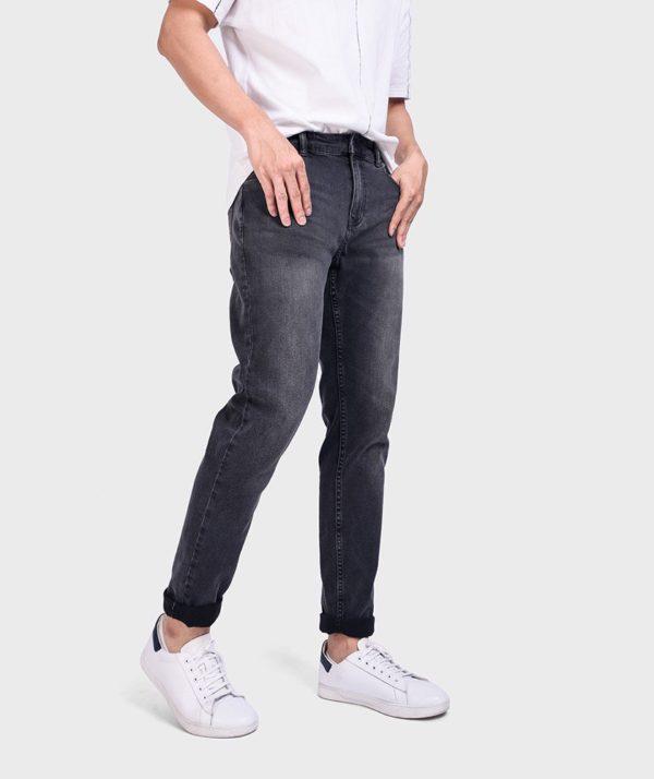 Quần Jean Nam Đen Form Slim Fit - QJ112050 2
