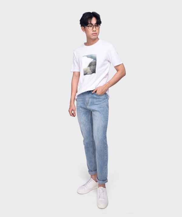Quần Jean Nam Indigo Straight - QJ113002 1