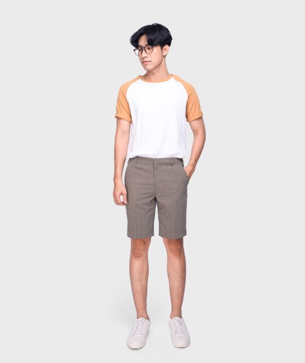 Quần Short Nam Vải Kẻ Sọc Cạp Chun Sau Form Slim - QS13202 10