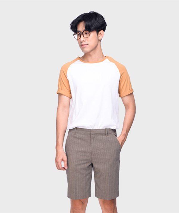 Quần Short Nam Vải Kẻ Sọc Cạp Chun Sau Form Slim - QS13202 11