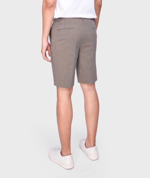Quần Short Nam Vải Kẻ Sọc Cạp Chun Sau Form Slim - QS13202 12