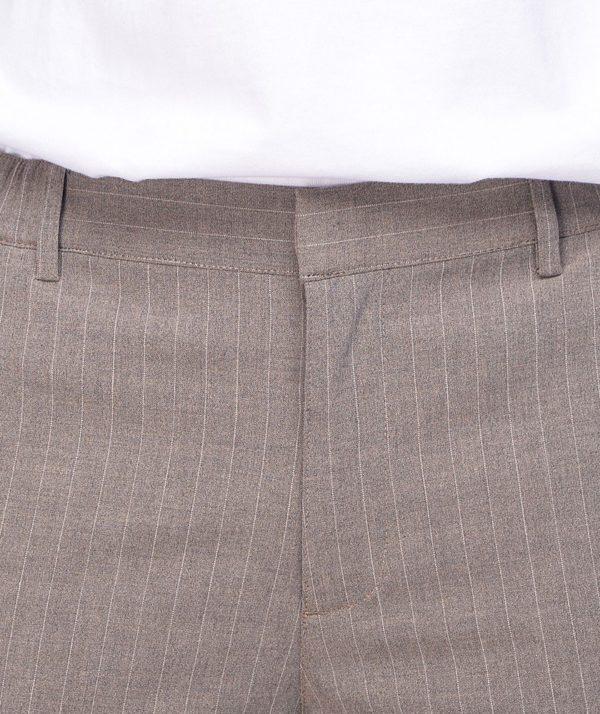 Quần Short Nam Vải Kẻ Sọc Cạp Chun Sau Form Slim - QS13202 13
