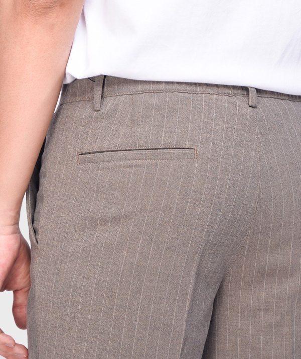 Quần Short Nam Vải Kẻ Sọc Cạp Chun Sau Form Slim - QS13202 14