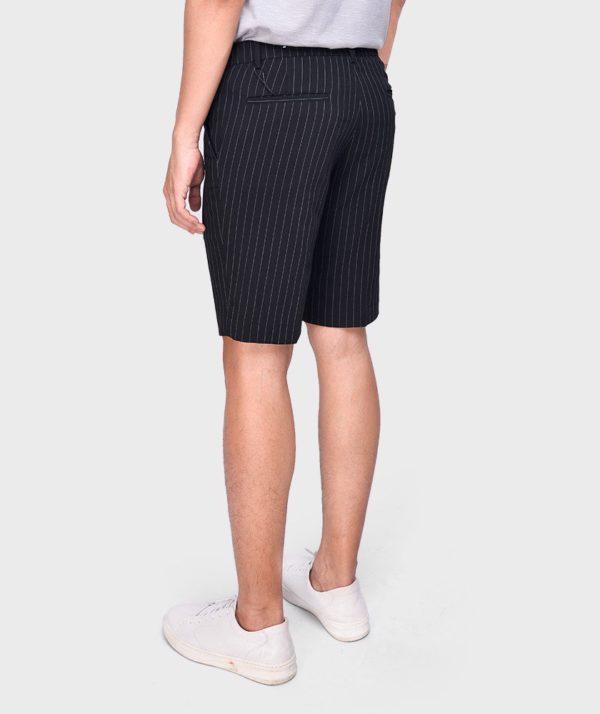 Quần Short Nam Vải Kẻ Sọc Cạp Chun Sau Form Slim - QS13202 2