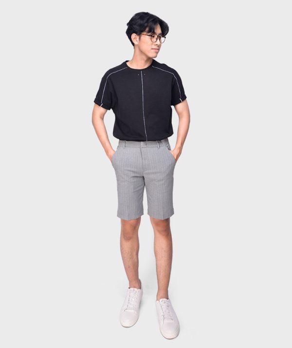 Quần Short Nam Vải Kẻ Sọc Cạp Chun Sau Form Slim - QS13202 5