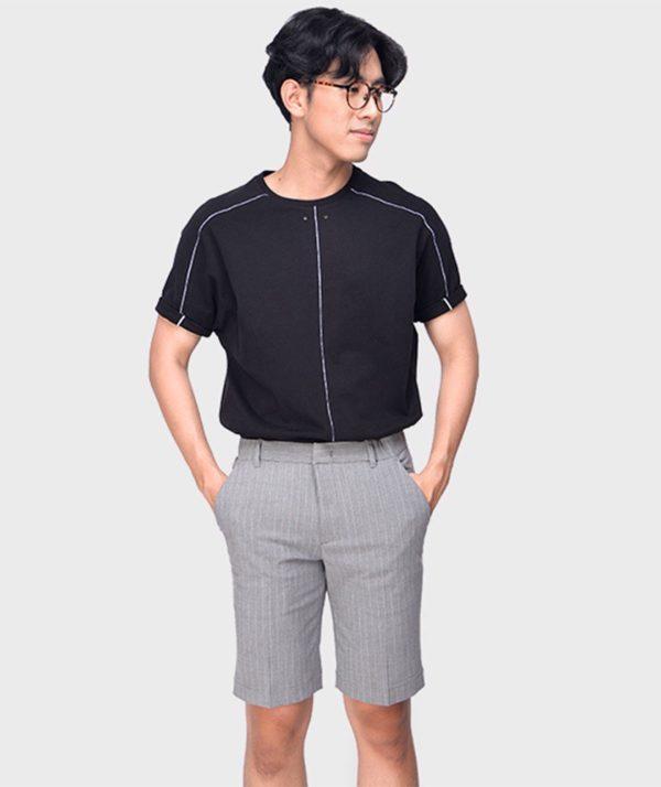 Quần Short Nam Vải Kẻ Sọc Cạp Chun Sau Form Slim - QS13202 6