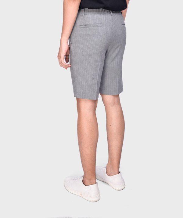 Quần Short Nam Vải Kẻ Sọc Cạp Chun Sau Form Slim - QS13202 7